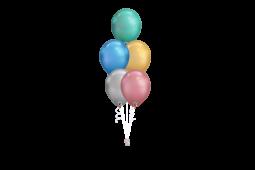 Helium Chrome Balloons bouquet