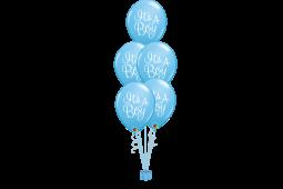 Helium balloon bouquet stamped It's a boy