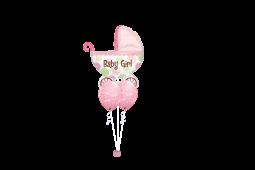 Helium newborn baby balloon bouquet stamped