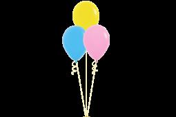 Helium pastel balloon bouquet - 6 lv